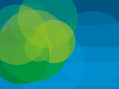 figuur met blauwe en groene bollen